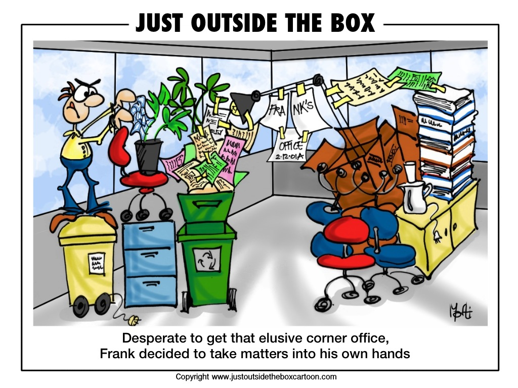 office humor jokes cartoon corner quotes funny box outside comic justoutsidetheboxcartoon comics offices english humour march takes three