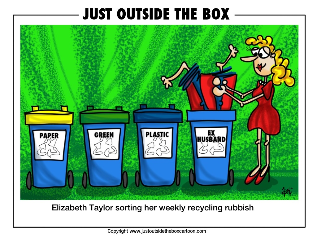 recycle – Just Outside the Box Cartoon