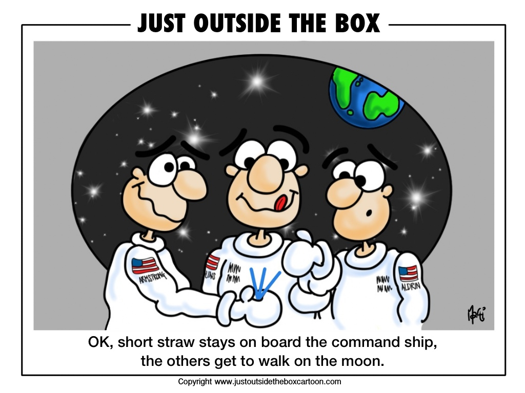 Image result for cartoon, Did Buzz And Neill Really See A UFO On Way To Moon?