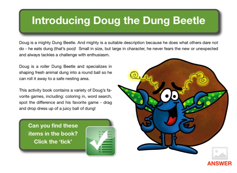 Dougs activity book page 1