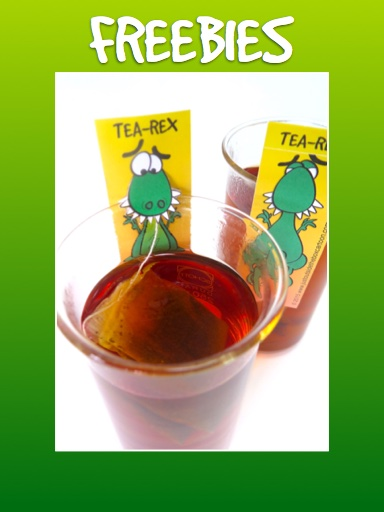 TRex tea bag freebie home page