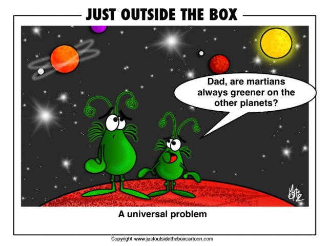 Maritans are always greener on the other planets