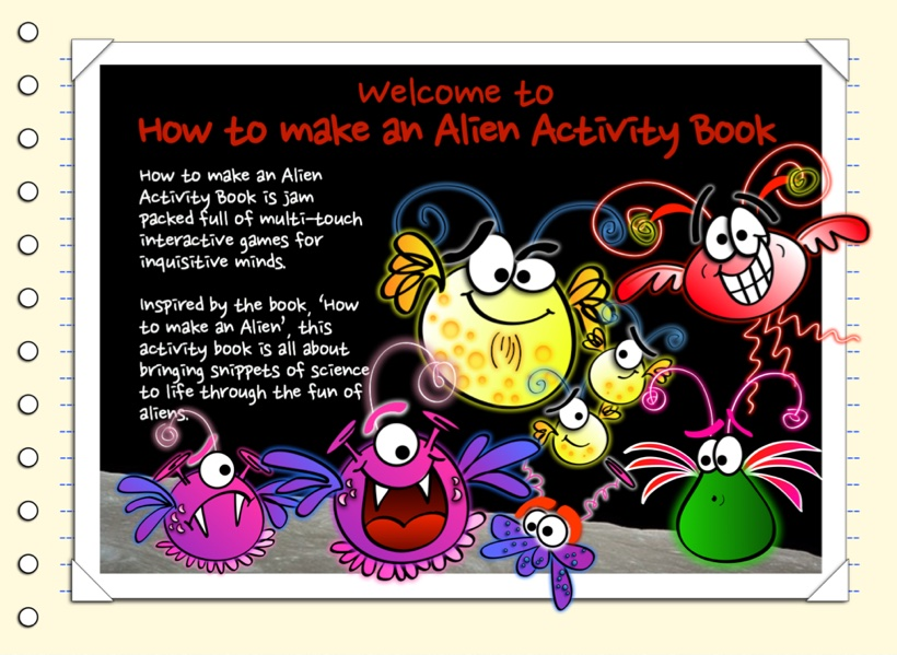 Alien activity book boderless 1