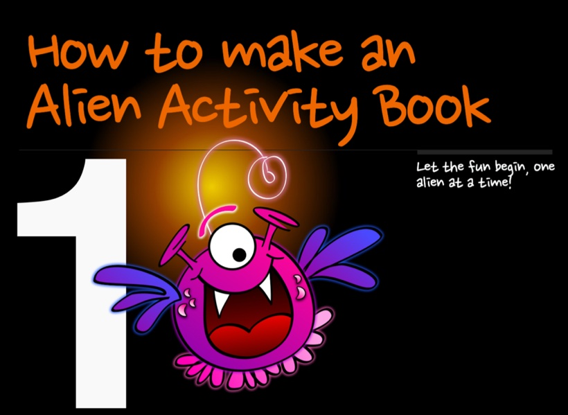 Alien activity book boderless cover
