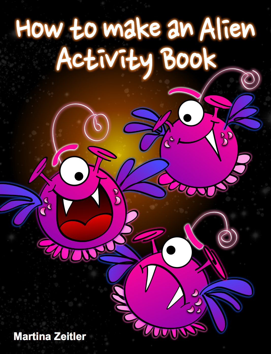 Free multi-touch activity book on aliens for iPad