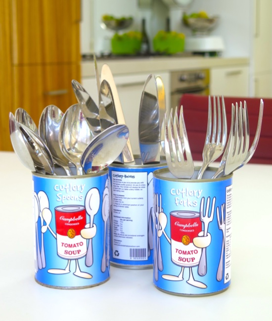 Cutlery tin holders free template