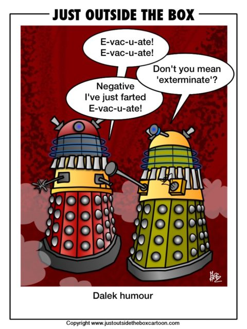 Dr Who and the dalek humor