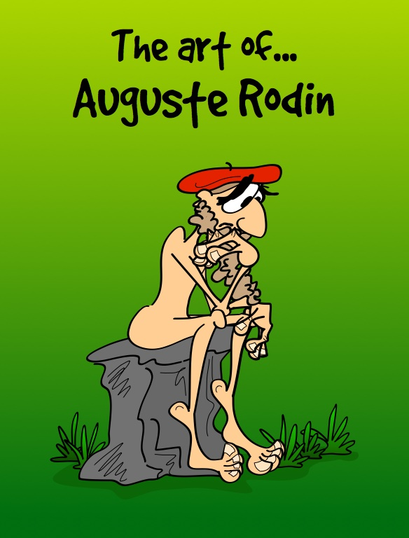 Auguste Rodin in cartoon