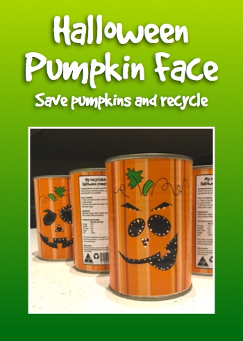 Free Halloween pumpkin tin face
