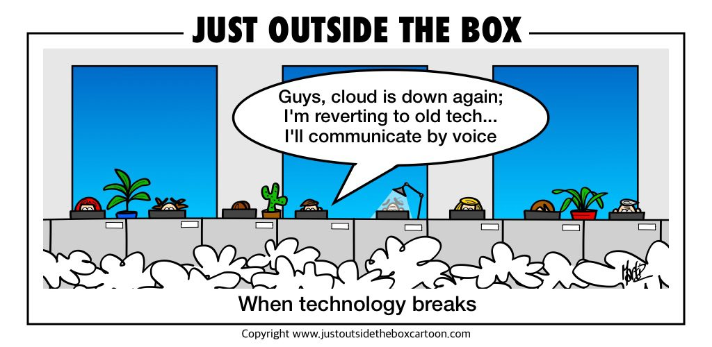 IT cloud failure