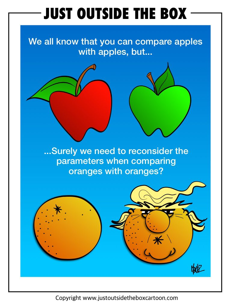 compare apples with apples
