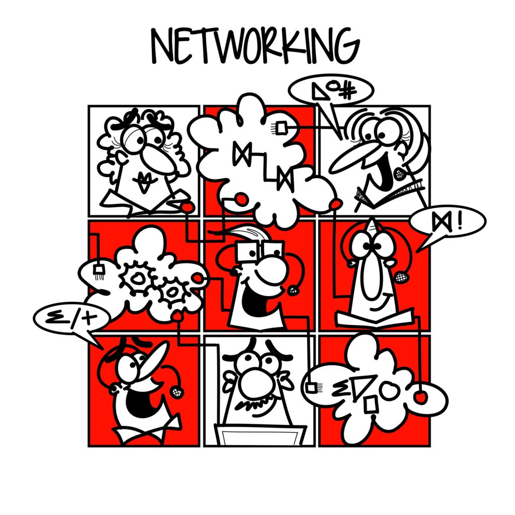 pictogram of business networking